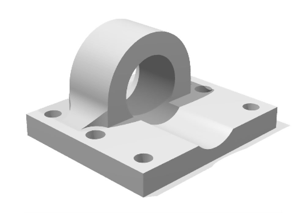 Render of method block to be produced with Xometry