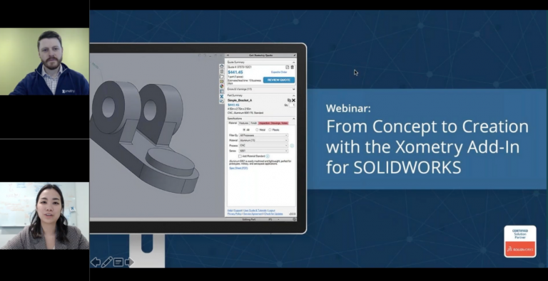 On-Demand Webinar: the Xometry Add-In for SOLIDWORKS
