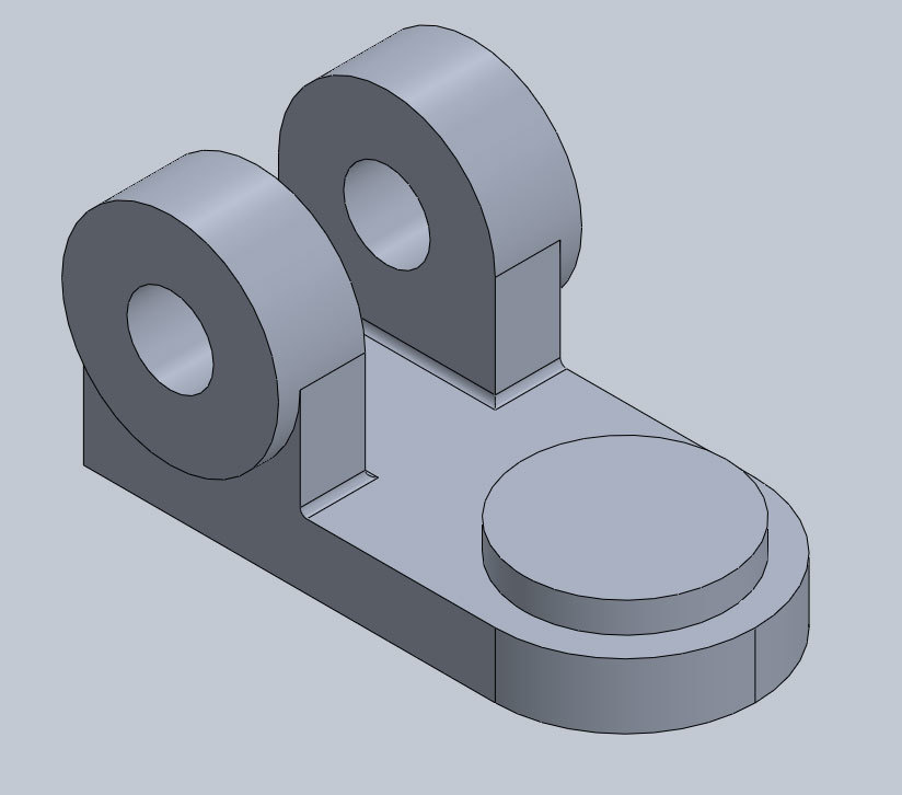 Xometry Instant Quoting Engine Add-In for SOLIDWORKS - Simple Bracket Model