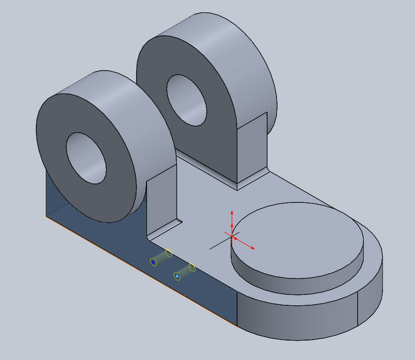 Xometry Instant Quoting Engine Add-In for SOLIDWORKS - Positioning Insert Hole on Simple Bracket Model