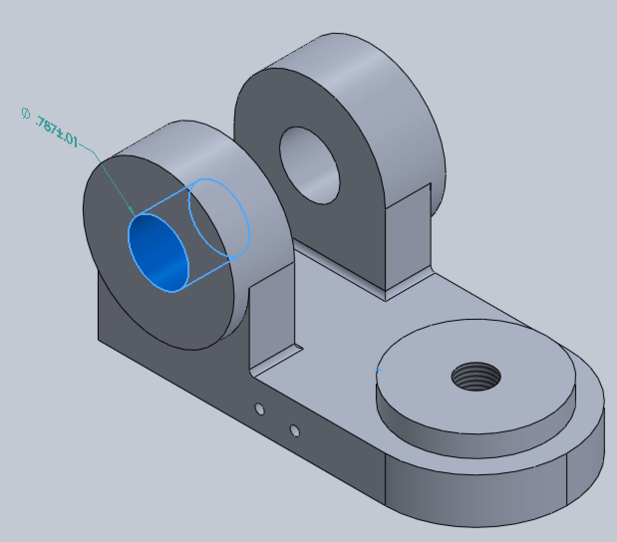 Xometry Instant Quoting Engine Add-In for SOLIDWORKS - Simple Bracket Model with Tolerances Applied