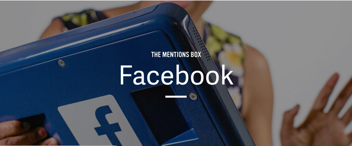 The Facebook mentions box that allowed celebrities to respond to fan questions submitted through Facebook.