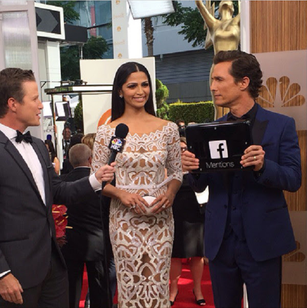 Matthew McConaughey used iStrategyLabs' Facebook Mentions box on the red carpet