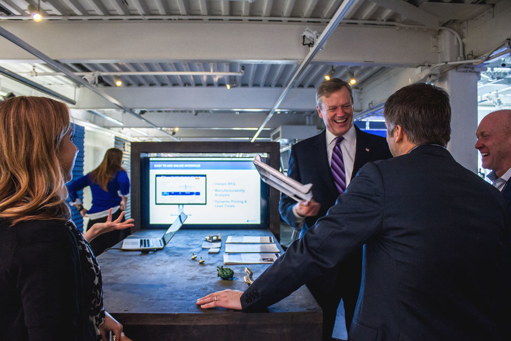 Governor Charlie Baker loved learning about our how our Partner Network is bringing jobs to machine shops in Massachusetts