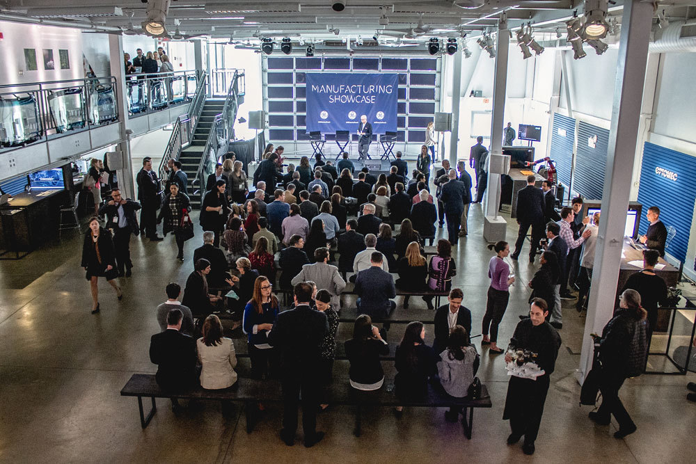 The crowd at GE Manufacturing Showcase 2017