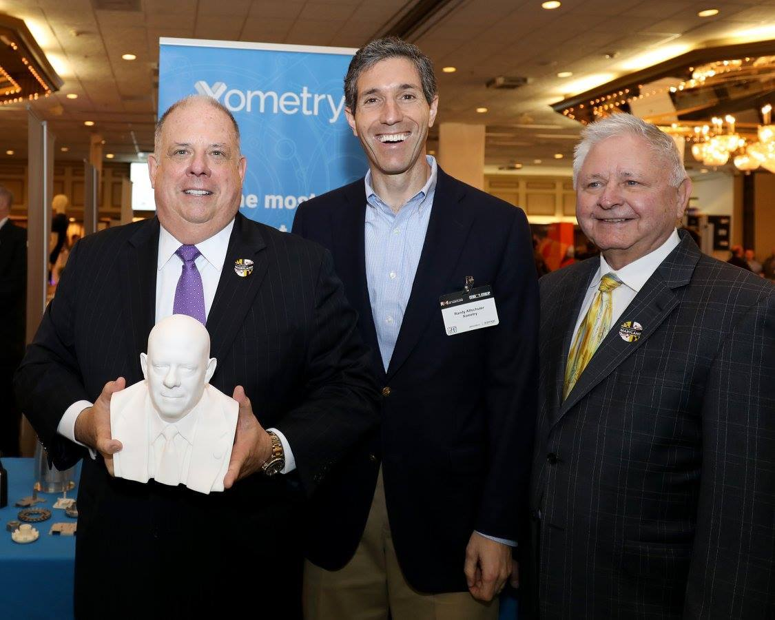 Xometry presents Maryland Governor Larry Hogan with a 3D Printed bust