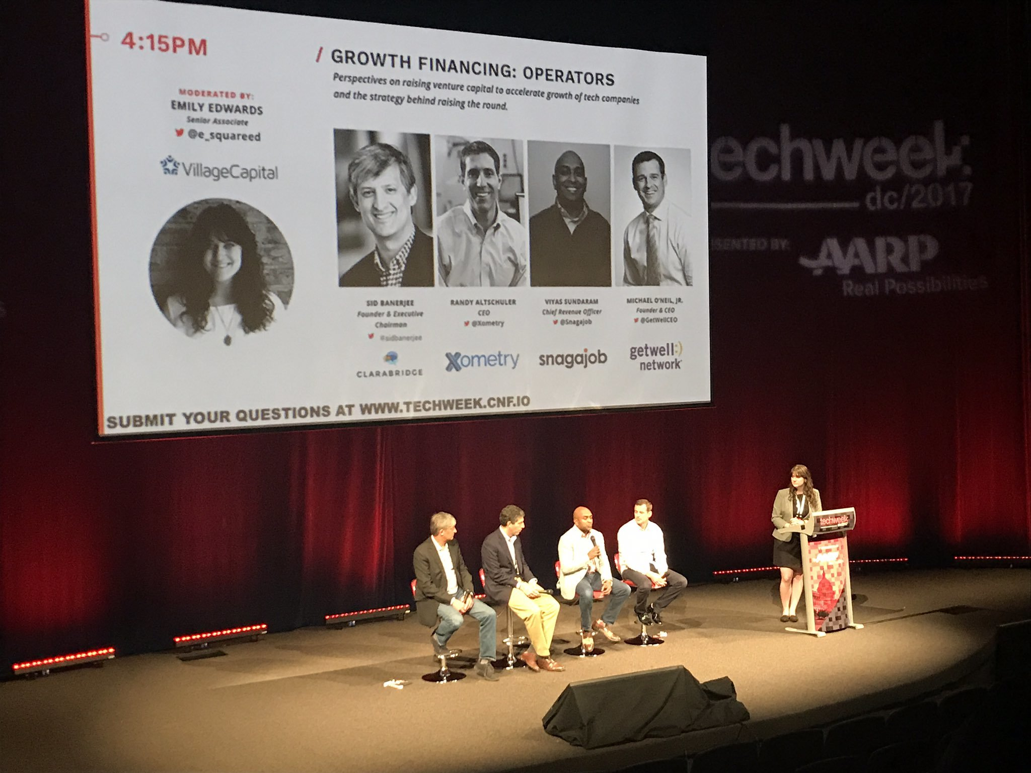 "Xometry CEO Randy Altschuler on the panel ""Growth Financing: Operators"" with several other speakers at TechWeek DC"