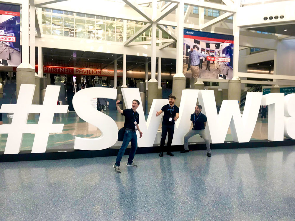 Greg, Hunter, and Mark capturing their excitement to be at #SWW18!