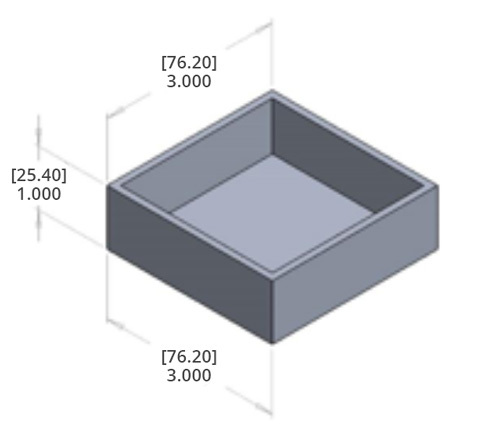 Sharp internal corner shown on CAD model