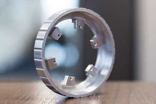 Circular CNC Machined part made of metal