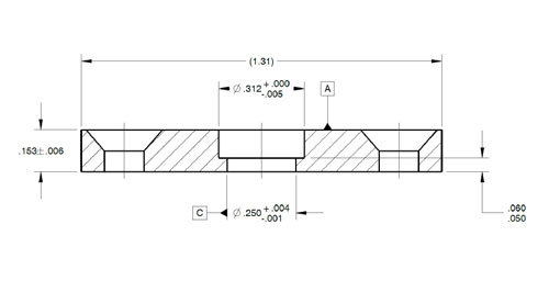 A part with non-standard tolerances