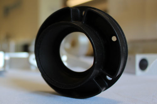 Circular CNC Machined part made of plastic