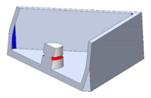 Undercut on CAD model