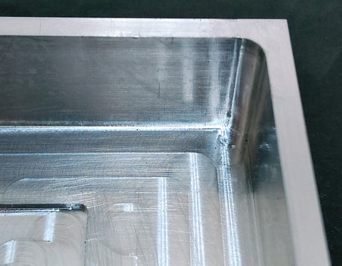 CNC machined wall fillet
