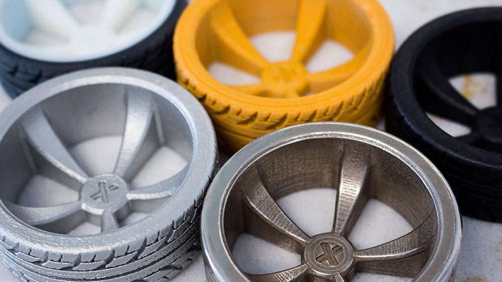 Assortment of 3D Printed wheel parts